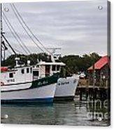 Fishing Trawlers Acrylic Print