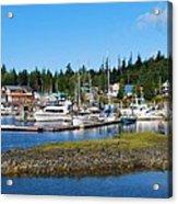 Fishing Village Alaska Acrylic Print