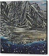 Fishing Village In  Winter Acrylic Print