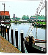 Fishing Village Marina In Zuiderzee Open Air Musuem In Enkhuizen-netherlands Acrylic Print