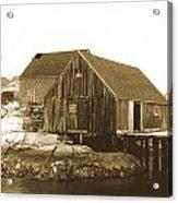 Fishing Wharf At Peggy's Cove Acrylic Print by Gordon  Grimwade