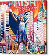 Fishman In Vegas Acrylic Print