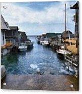 Fishtown Leland Michigan Acrylic Print