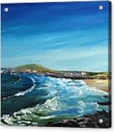 Fistral Bay Cornwall Acrylic Print