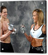 Fitness Couple 9 Acrylic Print