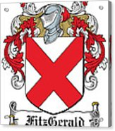 Fitzgerald Coat Of Arms Irish Acrylic Print