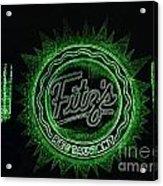 Fitz's In Green Neon  Acrylic Print
