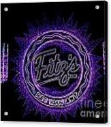 Fitz's In Purple Neon Acrylic Print