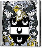 Fitzsimmons Coat Of Arms Irish Acrylic Print