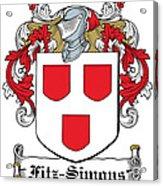 Fitzsimons Coat Of Arms Irish Acrylic Print