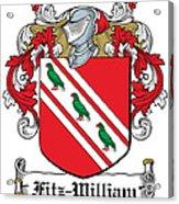 Fitzwilliam Coat Of Arms Dublin Acrylic Print