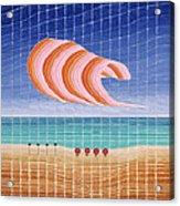 Five Beach Umbrellas Acrylic Print