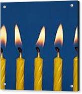 Five Candles Burning Acrylic Print