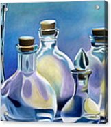 Five Clear Bottles Acrylic Print