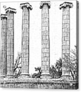 Five Columns Sketchy Acrylic Print by Debbie Portwood