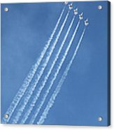 Five F-16 Fighting Falcons Reaching For Some Sky Acrylic Print