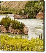 Five Finger Rapids Of Yukon River Yukon T Canada Acrylic Print