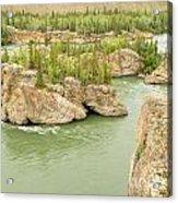 Five Finger Rapids Rocks Yukon River Yt Canada Acrylic Print