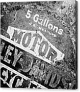 Five Gallon Motorcycle Oil Can Acrylic Print