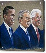 Five Living Presidents 2009 Acrylic Print by Martha Suhocke