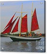 Five Red Sails Acrylic Print
