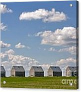 Five Sheds On The Alberta Prairie Acrylic Print