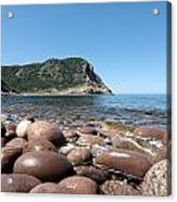 five steps to paradise - Giant pebbles is Menorca north shore close to Cala Pilar beach Acrylic Print
