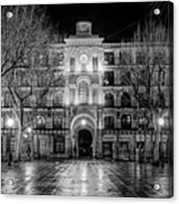 Five Till Seven In Black And White Acrylic Print