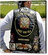 Fla Post 4143 Vfw Rider Color Usa Acrylic Print