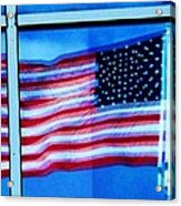 Flag Abstract Reflection Acrylic Print