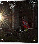 Flag And Stone Acrylic Print