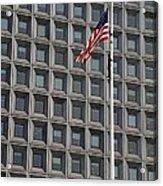 Flag And Windows Acrylic Print