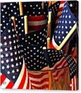Flag Bouquet Acrylic Print by Mamie Gunning