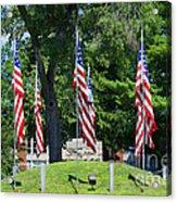 Flag - Illinois Veterans Home - Luther Fine Art Acrylic Print
