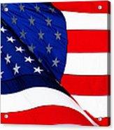 Flag Mirror Acrylic Print