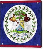 Flag Of Belize Acrylic Print