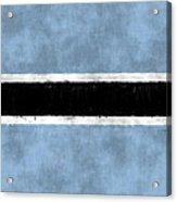 Flag Of Botswana Acrylic Print