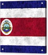 Flag Of Costa Rica Acrylic Print