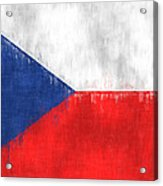 Flag Of Czech Republic Acrylic Print