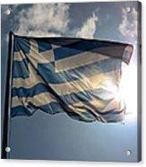 Flag Of Greece Acrylic Print