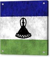 Flag Of Lesotho Acrylic Print