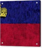 Flag Of Liechtenstein Acrylic Print