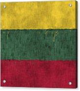 Flag Of Lithuania Acrylic Print