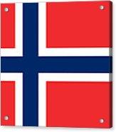 Flag Of Norway Acrylic Print by Tilen Hrovatic