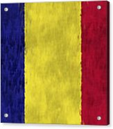 Flag Of Romania Acrylic Print