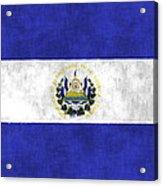 Flag Of Salvador Acrylic Print