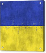Flag Of Ukraine Acrylic Print