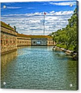 Flag Over The Moat Acrylic Print