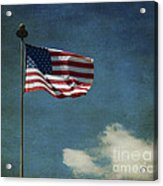 Flag - Still Standing Proud - Luther Fine Art Acrylic Print