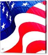 Flag Unfurl Acrylic Print